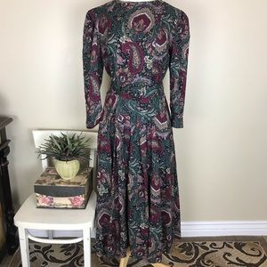 ** Vintage E.D. Michaels Paisley Dress